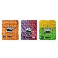 New Koko Nuggz Runtz Gummies Sour Sabor Gushers Super Fruit Misturadores 500MG Mylar sacos vazios Medicado Sour arco-íris gomoso Ziplock Packaging