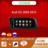 8 Kern Android 10.0 System Auto DVD Head Unit IPS-Bildschirm für Audi Q5 2009-2016 Google WiFi 4G LTE BT CARPLAY 4 + 64G RAM GPS NAVI RADIO