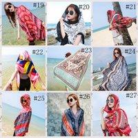 36style Scarf étnica mulheres xale de algodão linho toalha étnica seaside feriado feriado Solcreen Lenço de seda Bohemian Beach Towel 180 * 100cm GGA3758-3