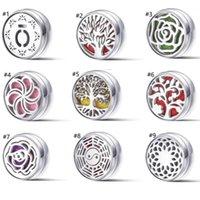 Maske Snap Düğmesi Manyetik DIY Aromaterapi Uçucu Yağ Difüzör Parfüm Hollow Madalyon Zencefil Kolye Bilezikler Takı HH12104