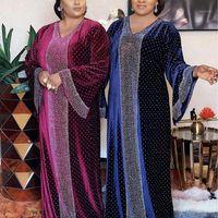 Abbigliamento etnico MD Bangladesh Donne musulmane Donne Abaya Abito di lusso Kaftalano Blu splendente cristallo Giacca da donna Big Size Fashion Turkish Islamic c