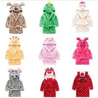 Berymond Children's Bathrobes Bebê Robe Com Capuz Flanela Pijamas Dress Bathrobes Kids Soft Bath Rupes Poncho Toalha Roupas 201104