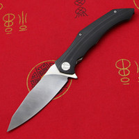 Tigend kaliteli Asimetrik Flipper Katlanır Bıçak D2 Blade G10 Kolu Avcılık Pratik Kamp Survival Bıçaklar EDC Aracı