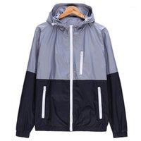 WOQN Ceketler Kadın Bahar Yeni Moda Ceket Bayan Ceket Kapşonlu Temel Ceket Rahat İnce Rüzgarlık Kadın Dış Giyim JK1061