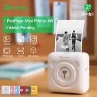 Принтеры Peripage Portable 304DPI Тепловое изображение PO MALKE MINI Принтер коричневый красный желтый A6