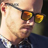 Güneş Gözlüğü Outmix Klasik Retro Pirinç Tırnak Kadınlar 2021 Moda Kare Güneş Gözlükleri Erkekler Renkli Temizle Gözlük Kadın UV400