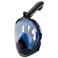 수중 스쿠버 전체 얼굴 다이빙 마스크 스노클링 세트 호흡기 마스크 안전 및 방수 수영 장비