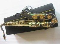 Yanagizawa Nueva marca B Flat Tenor Saxophone Electroplase Black Nickel Gold Musical Instrument Sxophone Professional and Case