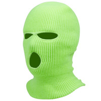 New Balaclava Mask Hat Winter Cover Neon Mask Green Halloween Caps For Party Motorcycle Bicycle Ski Cycling Balaclava Pink Masks