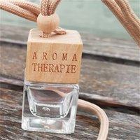 Auto Parfüm Flasche transparent Magie aroma therapie mode quadratische innere hängende leere ätherische öl diffuser flaschen heißer verkauf 1 4cy k2