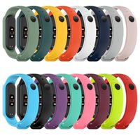 Für Xiaomi Mi 5 TPU Silikon-Smart-Armband-Armband-Band Ersatzband Miband 5 Smart-Bands Bügel-Uhrenarmband