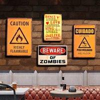 2021 engraçado vintage advertência advertência rocha metal parede sinal retro 3d em relevo sem povos estúpidos cartaz stikers porta estanho placas home decor