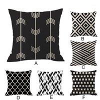 Новая геометрическая льняная наволочка для наволочки Диван, бросая набор накладки декоративный бросок подушка подушки подушки чехлы наволочки