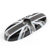 Areyourshop Black Union Jack UK Bandera Vista trasera Cubierta de espejo Ajuste para Mini Cooper R55 R56 R57 ETC Piezas de Accesorios Automóviles