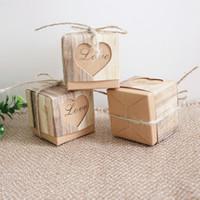 Caso del cuore di regalo di carta Kraft Box Candy Love Fashion imballaggio di stile Vintage Piazza Souvenir Container Europa 2020 0 18kt F2