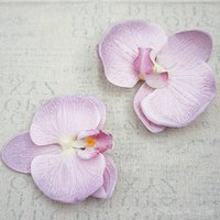 15 قطعة كبيرة الاصطناعي الزهور الحرير التدرج فراشة الأوركيد رؤساء phalaenopsis diy اكليلا هدية سكرابوكينغ الديكور الزفاف Y0104
