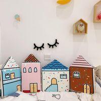 مجموعات الفراش ins 4-piece سرير الطفل مصدات السرير حول صفائح المهد القطن سماكة الفراش غرفة الوفير ديكور 1
