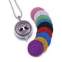 1шт Аромат Диффузор ожерелье Open Antique Vintage Медальоны Подвеска Духи Эфирное масло Ароматерапия Locket ожерелье с прокладками