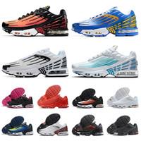 Yeni Varış 2021 TN Artı 3 Sıcak Satış Erkek Bayan Runnnig Ayakkabı Lazer Mavi Kaplan Crimson Kırmızı Spor Sneakers Açık Eğitmenler