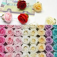 Valentines Day Seifenblume Vierstufe Rose Seifenblume Valentines Tag Geschenke Hochzeitsdekoration Blume Geschenkboxen W-00633