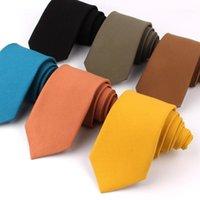 رقاقات الرقبة القطن للرجال النساء عارضة بلون التعادل الزفاف الأعمال الدعاوى نحيل سليم ربطة العنق gravata الهدايا 1