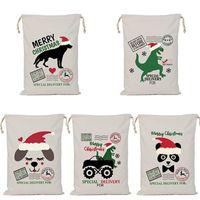 هدية عيد الميلاد حقيبة سانتا كيس الرباط أكياس قماش أكياس التخزين سانتا طباعة حقائب هدية عيد الميلاد الديكور IIA746