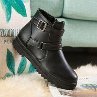 LCXMND Frauen Stiefel Wasserdichte Schnee-Aufladungen Female Plüsch-Winter-Frauen warme Knöchel Botas Mujer Winter-Schuh-Frauen Plus Size