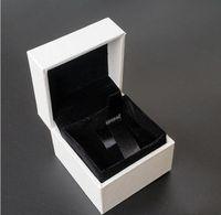 Classical Bianco quadrato gioielli imballaggio scatole originali per Charms Pandora Charms nero anello di velluto orecchini visualizzazione gioielli scatola
