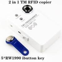 TM iButton programmatore DS1990A duplicatore Cloner Copier 125Khz RFID Reader Writer RW1990 Key Token RFID / TM Keyfob duplicatore