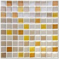 25.4 cm * 25.4 cm DIY Su Geçirmez Kalınlaşmak PVC Kendinden Yapışkanlı 3D Duvar Çıkartmaları Mozaik Çini Çıkartması Cam Pencere Ev Decort80240