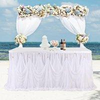 고품질 테이블 스커트 물결 모양의 접이식 다이아몬드 수감증 디자인 테이블 스커트 아기 샤워 결혼식 발렌타인 데이 장식 1