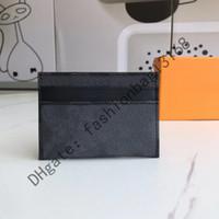 M62170 Top Qualität Männer Klassische Casual Kreditkartenhalter Rindsleder Leder Ultra Slim Brieftasche Packet Tasche Für Mans Frauen Qwer