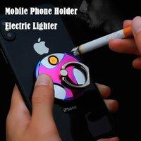 2020 Creative coupe-vent Cigarette USB briquet électrique briquet électrique briquet compact titulaire de téléphone portable allumant allumant homme rechargeable homme cadeau