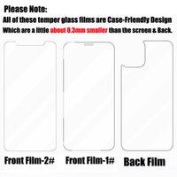 Temperli Cam Film Mini Max iPhone Pro 11 Fullbody 12 XS Ön + Arka X Koruyucu Koruyucu Ekran için Anti-Paramparça XR Arka Kapak UUOSV