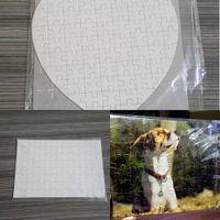 Sublimation Puzzle A5 A4 SUBLIMATION Puzzles blancs Puzzle blanc Jigsaw 120pcs / 80pcs Toile Thermal Transfert Imprimer Cadeaux H11905