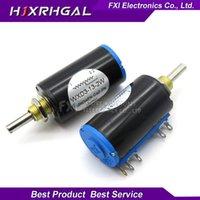 1pcs wxd3-13-2w 10k ohm wxd3-13 2w wirewound potentiometer roterande sida roterande multiturn ny varm försäljning1