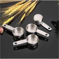 الحلوى قياس ملعقة الفولاذ المقاوم للصدأ ملاعق المطبخ أدوات الخبز الفاصوليا القهوة كوب التوابل الكمية WY1168