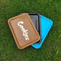 Cookies rolando bandeja plástico tabaco 18x12cm s tamanho pequeno rolo de mão rolo de lata bandeja caixa de bandeja de especiaria placa de desenhos animados fumar novo