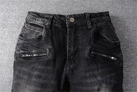 Arrivals Bal Mens Designer Jeans Fashion Trousers Slim-leg Jeans Famous Brand Zipper Designer Hot Sale Hip Hop Denim US EU Size 29-42