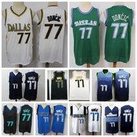 2021 Mens Luka Doncic Swingman Basketbol Jersey Şort Otantik Dikişli Şehir Dallases Edition Luka Doncic 77 Jersey Gerçek Logo Etiketleri ile