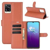 Litchi Pattern Flip PU кожаный кошелек телефона чехол для vivo v20 pro v20se y70 x50e y95 u1 y91 y91i y93 lite y91i y91c iqoo 5 s7 5g