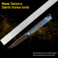 Titanyum Kolu, Şam Çelik, Pocketnife, Survival Kamp Bıçağı, Balıkçılık Knifbm 781 C813300 BM42Butterfly EDC
