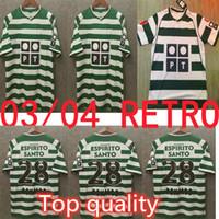 Top Retro 2003 04 Lissabon Soccer Jerseys Ronaldo Football Shirts 01 02 Vintage Fluwelen Sponsor Camisa de Futebol Maillot