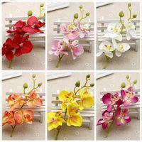 Vente chaude 1pc orchidée artificielle fleurs bricolage artificiel artificiel orchidée de soie fleur bouquet phalaenopsis mariage maison décoration1