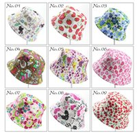 어린이 버킷 모자 어린이 태양 모자 꽃 아기 복장 아이 모자 아기 어부의 모자 만화 아이 해변 태양 모자 (40 개) 색상 낚시