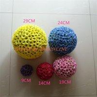 11.5 pulgadas / (29 cm) Boda Artificial Seda margarita besos bola flor pomande bola bola bolas decorativas