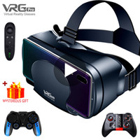 الواقع الافتراضي VR سماعة النظارات الذكية خوذة للهواتف الذكية الهاتف الخليوي موبايل 7 بوصة عدسات مناظير مع تحكم LJ200919