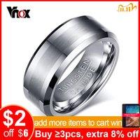 Vnox classique 100% Bague en carbure de tungstène pour hommes Bijoux de mariage pas de rouille dropshipping
