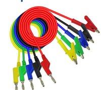Pure Color Test Line Banana Plug для штепсельной проволоки Alligator Clip Plug Family Pressional Gadget Multicolor Multiметр может быть подключен новым 4 6LQ J2