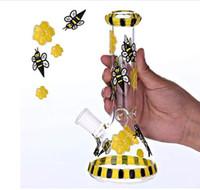 Beaker Bongs Water Piques Downstem Perc Glass Bubber Толстые Стекло Водяные Бонги Курительные трубы Heady Dab Буровые установки 14 мм Чаша Кусок Кальяны